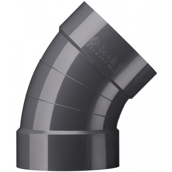 Rohrbögen 45° (segmentfrei)