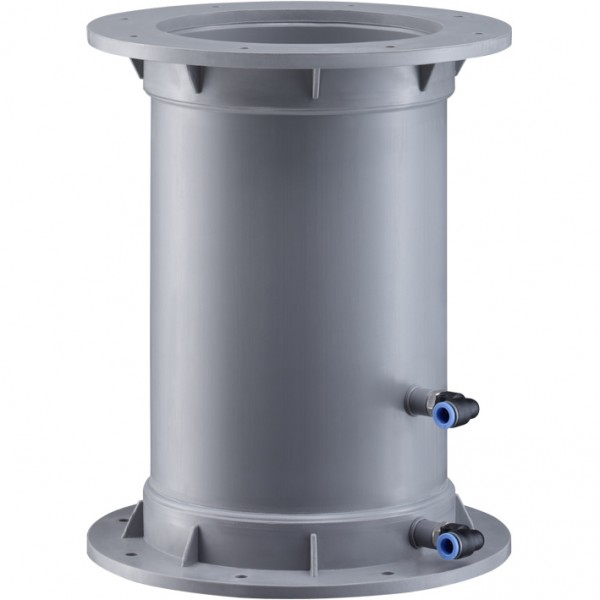 Volumenstrom-Messstelle kurz, Flanschanschluss