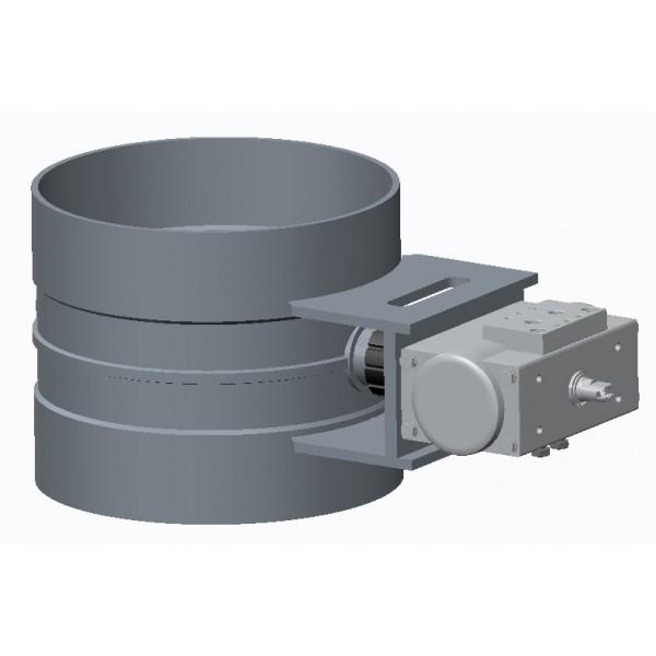Drosselklappen standard stufenlos mit Stellmotor PN für pneumatischen Betrieb
