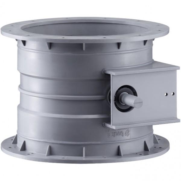 Drosselklappen verstärkt stufenlos mit Konsole für Stellmotor für elektrischen und pneumatischen Betrieb, beidseitige Flansche