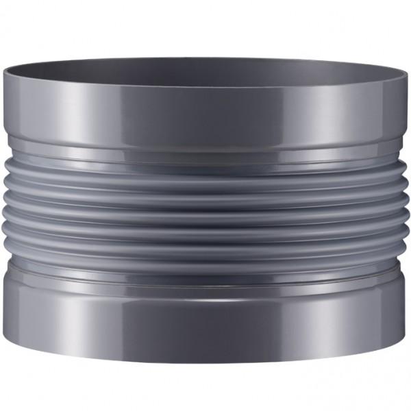 Wellflexmanschetten 3 mm Muffenanschluss, 6-fach gewellt